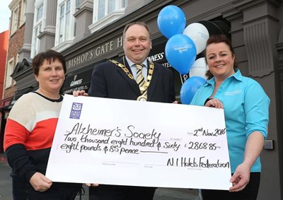 Northern Ireland Hotels Federation Raises Over 2 000 For Alzheimer S Charity